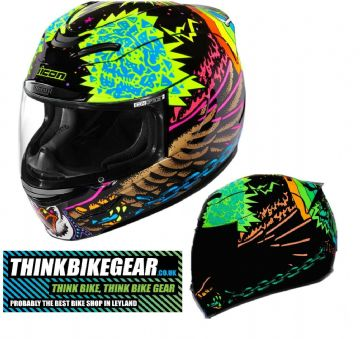 Icon Airmada TL Turbo Lover Wings Glow In The Dark Motorcycle Motorbike Helmet